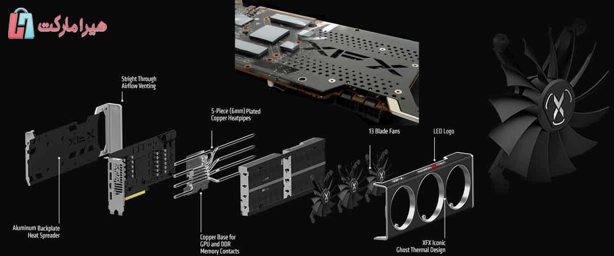 کارت گرافیک AMD رادئون 552 RX 6700 XT fxf